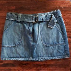The Limited Blue Jean Mini Skirt